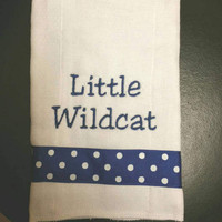 Embroidered burp cloth - Kentucky UK Wildcats Blue
