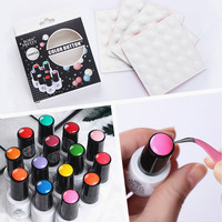 10Pcs BORN PRETTY Nail Art Tools Gel Polish Color Button White Silicone Label Sticker Original Design for UV Gel Adhesive Paster