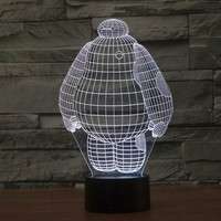 Big Hero Baymax 3D LED Lamp