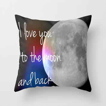I love you to the moon and back Throw Pillow by JKimberly
