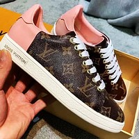 Onewel LV Shoes Louis Vuitton Sneakers Monogram print Shoes Pink tail