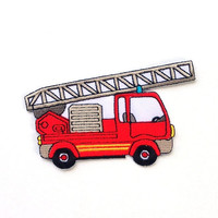 Fire Engine/ Ladder Truck Iron on Patch