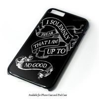 Harry Potter Quote - I Solemnly Swear That I Am Up To No Good Design for iPhone and iPod Touch Case