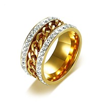 Gold Color Spinner Rings