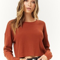 Drop-Shoulder Thermal Top