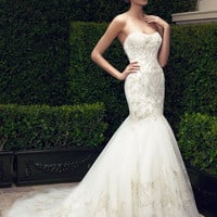 Casablanca Bridal 2197 Strapless Beaded Fit & Flare Wedding Dress