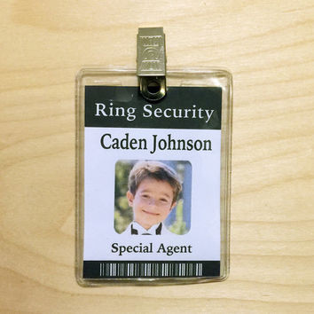 Ring Security, Ring Bearer Gift, Ring Bearer Security Badge, ID Badge, Ring Bearer Badge, Ring Bearer Gifts, Wedding Gift, Version #1