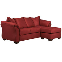 Signature Design by Ashley Darcy Sofa Chaise in Salsa Microfiber