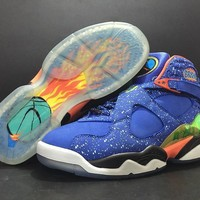 [Free Shipping ]Nike Air Jordan 8 Retro DB Doernbecher 729893-480 Basketball Sneaker