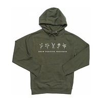 Grow Positive Thoughts Hoodie (Single Color Print)