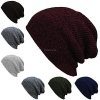 Tagre™ Fashion Unisex Wool Blend Knit Beanie Oversize Spring Fall Winter Hat Ski Cap(7 Colors) = 1958155908