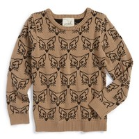 Peek 'Foxy' Sweater (Toddler Girls, Little Girls & Big Girls)