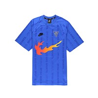 Nike Men's NSW Sportswear 2020 Nike Sport Flame Game Royal Jersey Tee