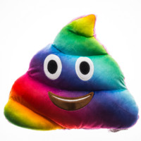 RAINBOW POOP PILLOW