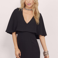 In Too Deep Cape Bodycon Dress
