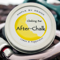 After Chalk Climbing Bar Lemon and Peppermint 1.8 oz Scratch made Solid Lotion Bar, perfect gift for climbers climbing balm No Preservatives