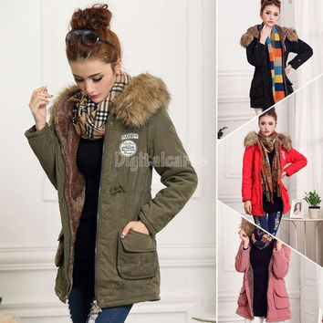 2014 winter new Fashion Women's down jacket long Coat ladies Winter warm padded parka hood overcoat thick clothing SV007576 = 1713187524