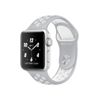 Apple Watch Nike+, 38mm Silver Aluminum Case with Flat Silver/White Nike Sport Band