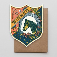 Winner Horse Badge