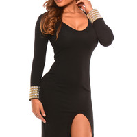 Tirza - Black Accented Fist Dress