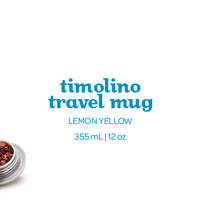 Lemon Yellow Timolino (12 oz) - Stainless Steel Travel Mug | DAVIDsTEA