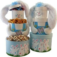 Art of Appreciation Gift Baskets Somebunny Special Easter Bunny Rabbit Gift Tower, Blue