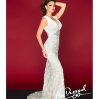Mac Duggal 81902R Ivory Lace Ruched Prom Gown 2015 Prom Dresses