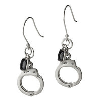 SET YOURSELF FREE EARRINGS   Handcuff earrings, set yourself free, jewelry, black onyx, Mary Steratore, UncommonGoods   UncommonGoods