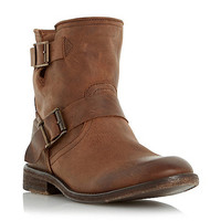 Womens Tan Dune Tan 'Peddley' casual washed leather ankle boot