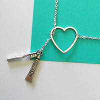 Silver Dental Necklace with Toothpaste and by MelissaMarieRussell