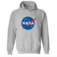 The new autumn and winter tide card Nasa series of letters Hooded Hooded sweater