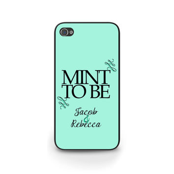 Mint to be Personalized Wedding iPhone Case, iPhone 5 iPhone 6, Anniversary Gift, Couples iPhone Case, Samsung S4 S5 Cover - 0035