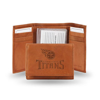 Tennessee Titans NFL Tri-Fold Wallet (Pecan Cowhide)