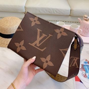 shosouvenir Louis Vuitton LV Women Shopping Leather Crossbody Satchel Shoulder Bag