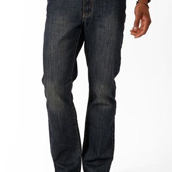 Straight Fit- Faded Dark Wash