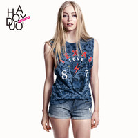 retro low waist shorts rolling flanging jeans sexy with hole women shorts