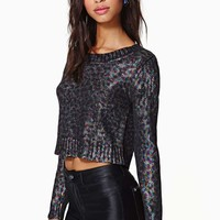 Prowl The Night Coated Crop Top