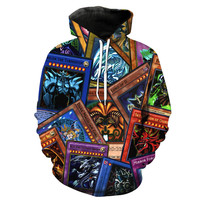 Yu-Gi-Oh! Trading Cards Collage Hoodie