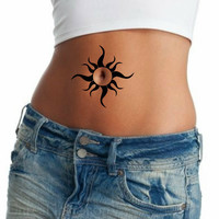 Bellybutton Temporary Tattoo Stomach Ultra Thin Realistic Tattoos