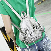 Silver Washed Buckle Backpack