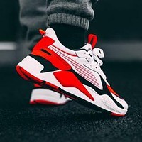 Bunchsun PUMA RS-X Reinvention Puma men's shoes women's shoes couple shoes retro old shoes black red white