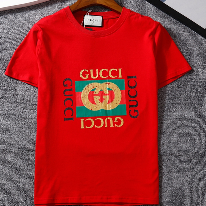 Image of GG Men Fashion Casual Letter Shirt Top Tee
