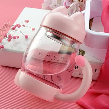 Creative Glass Tea Set The New Drink Cup Kitten Cup Lovely Cup Household Gift