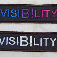 Bisexual Visibility embroidered patch