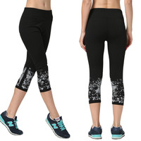 Women's Fashion High Waist Stretch Cotton Sweatpants Jogging Wearing Ladies Yoga Pants Gym Sports And Fitness Candy Color Capris Leggings = 4747034436