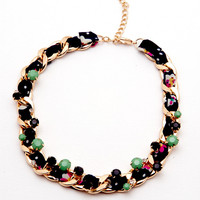 Candy Bar Necklace Navy