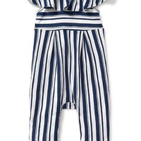 Striped Ruffle-Trim Romper for Baby | Old Navy