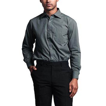 Regular Fit Long Sleeve Dress Shirt - Charcoal