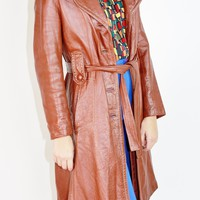 70s Leather Trench / M