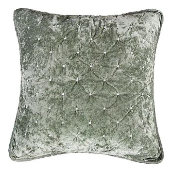 Tache Velvet Dreams Light Green Plush Diamond Tufted Euro Sham (JHW-853G)